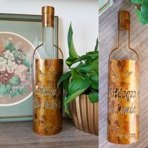 VTG Wine Bottle Tea Light Holder